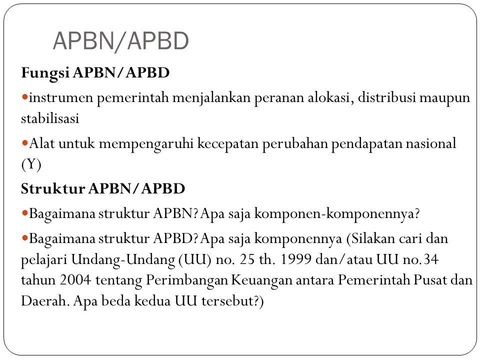 APBN/APBD Fungsi APBN/APBD