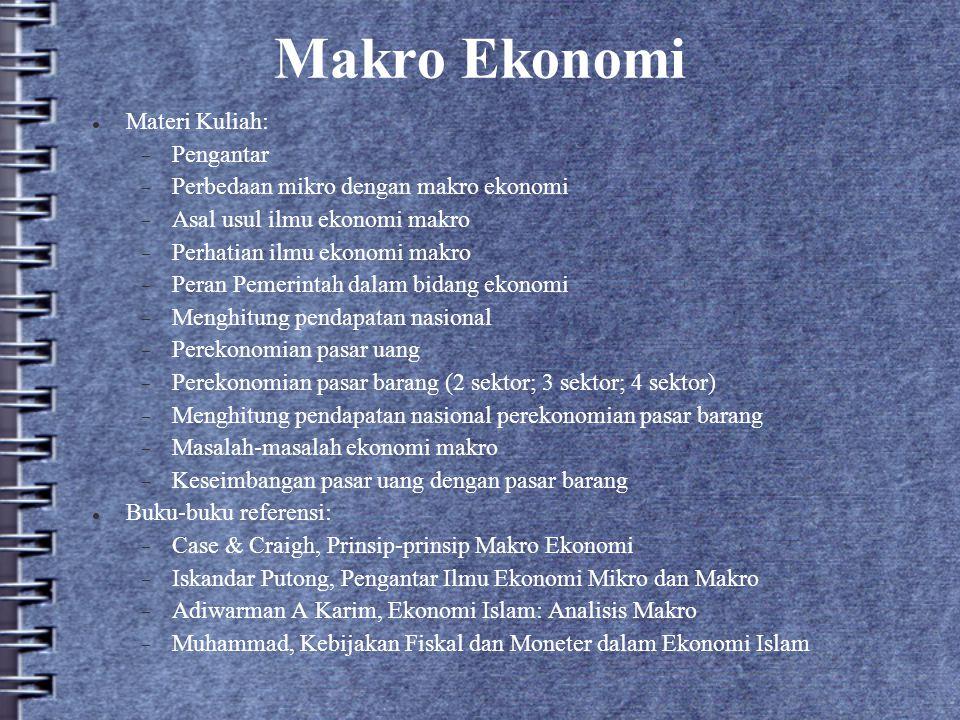 Makro Ekonomi Materi Kuliah: Pengantar