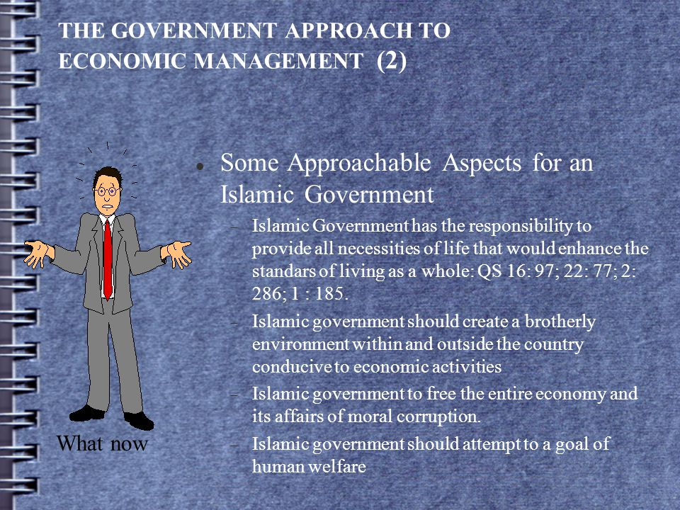 THE GOVERNMENT APPROACH TO ECONOMIC MANAGEMENT (2)