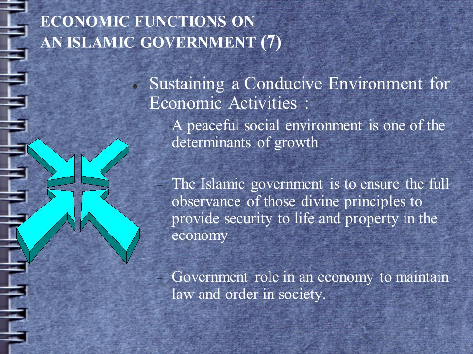 ECONOMIC FUNCTIONS ON AN ISLAMIC GOVERNMENT (7)