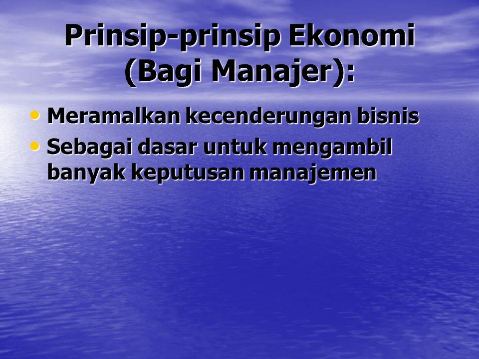 Prinsip-prinsip Ekonomi (Bagi Manajer):