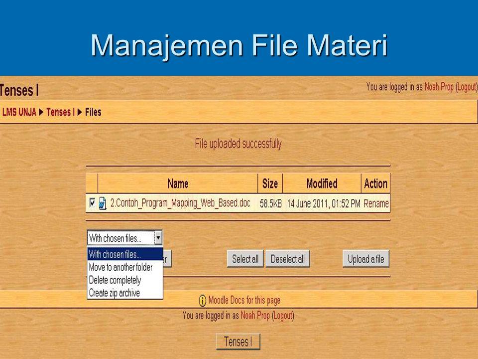 Manajemen File Materi