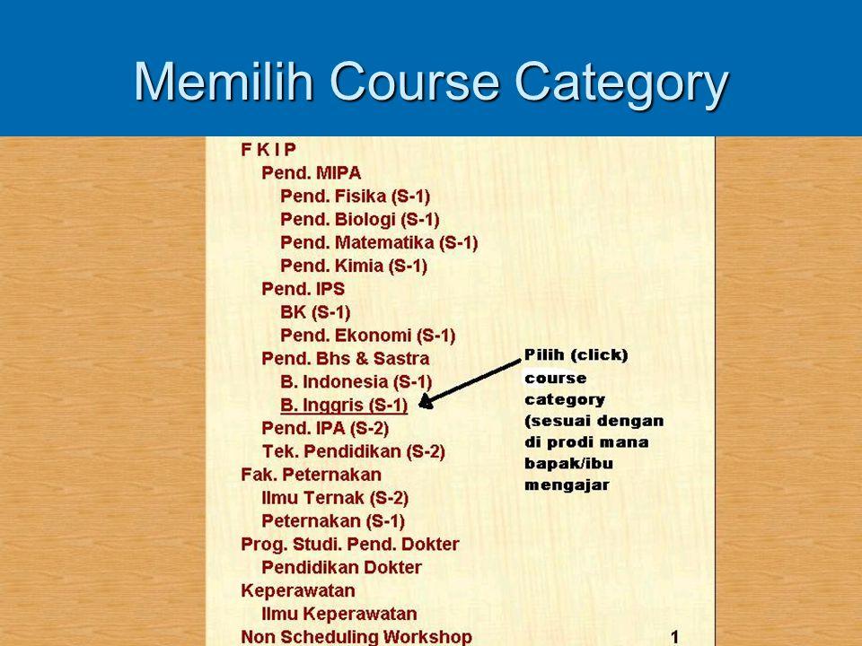 Memilih Course Category