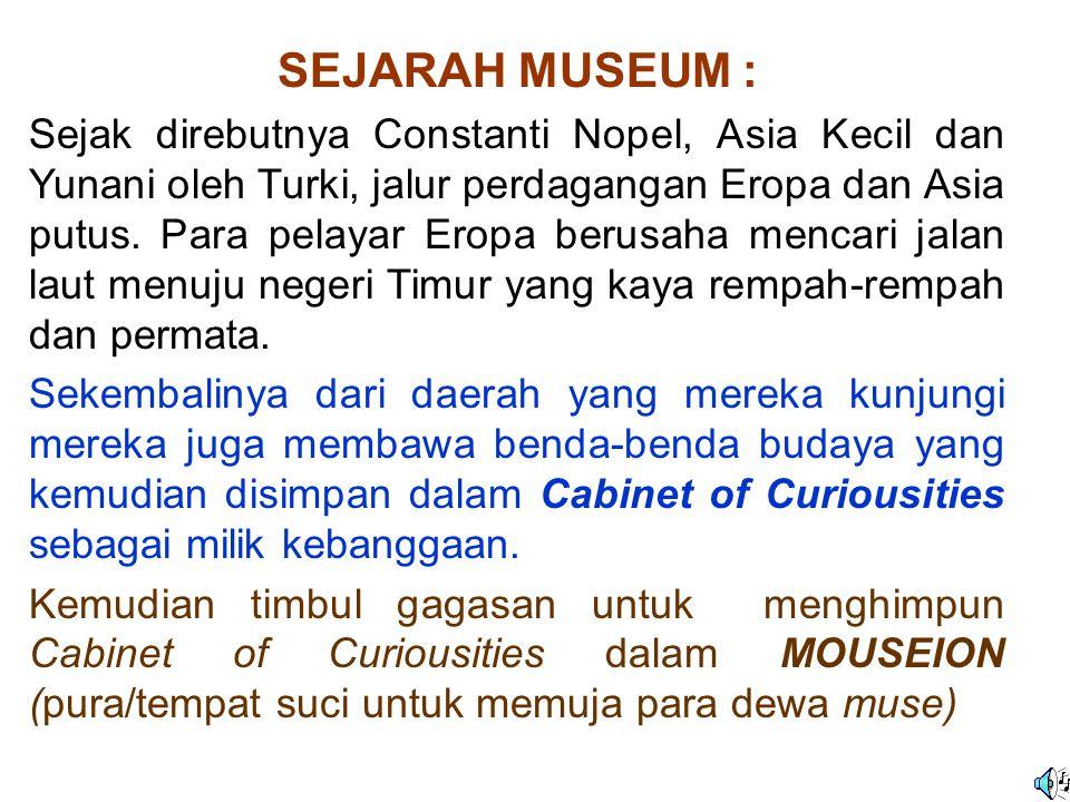 SEJARAH MUSEUM :