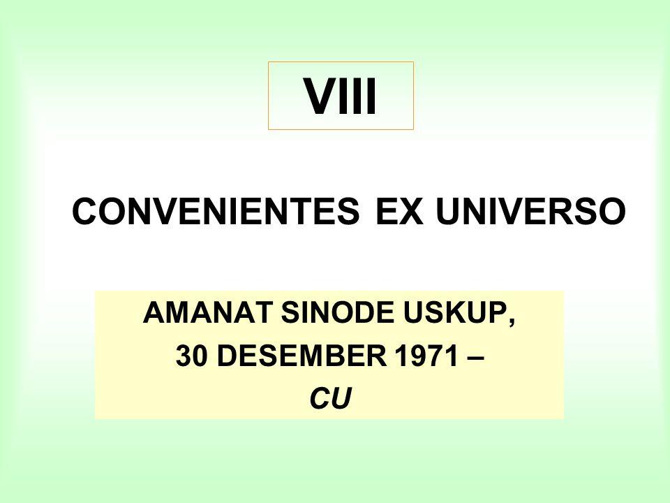 CONVENIENTES EX UNIVERSO