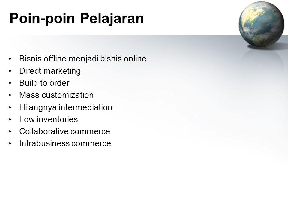 Poin-poin Pelajaran Bisnis offline menjadi bisnis online