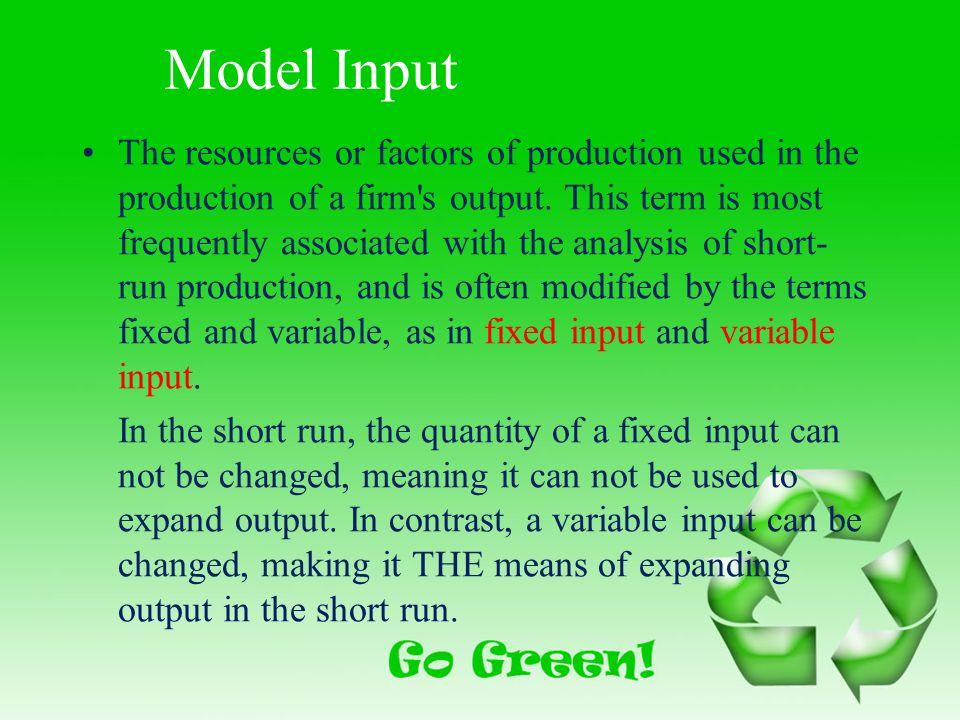 Model Input