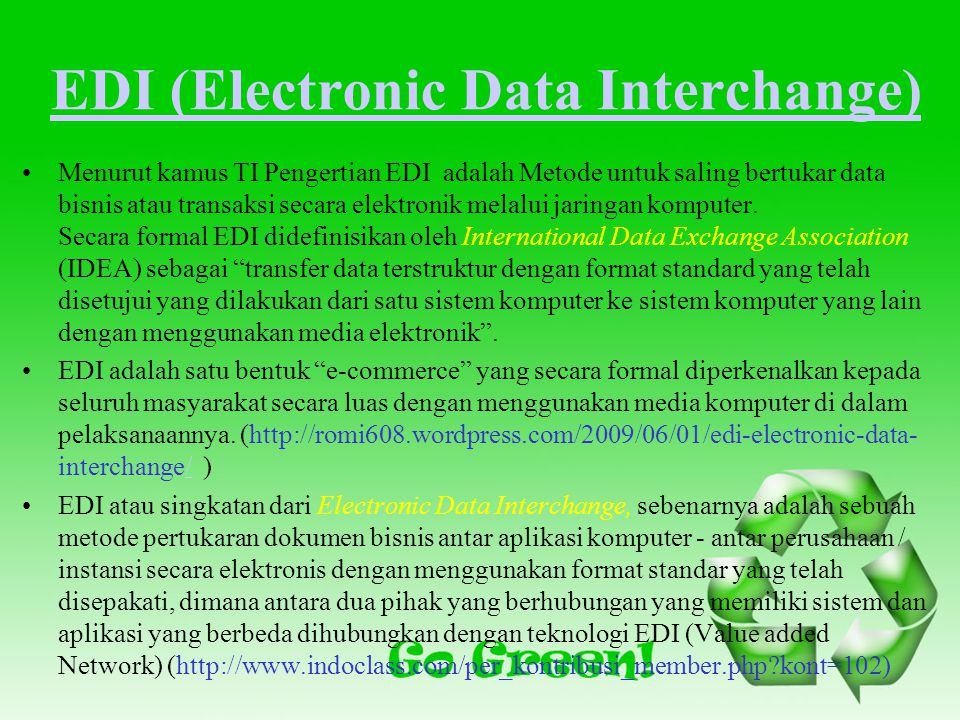 EDI (Electronic Data Interchange)