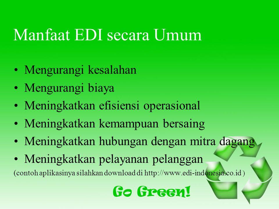Manfaat EDI secara Umum