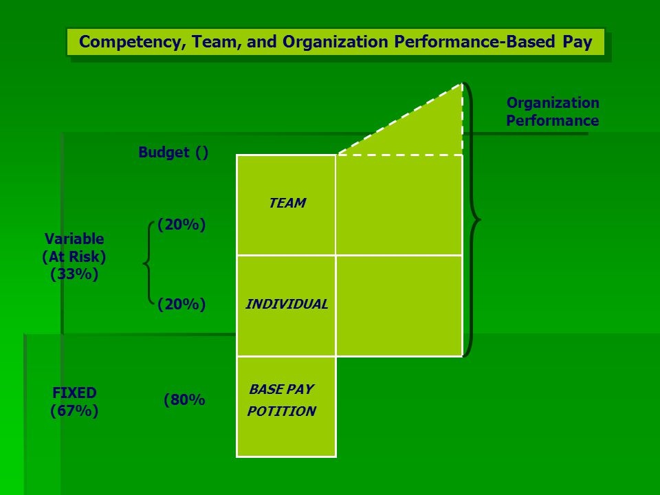 Competency, Team, and Organization Performance-Based Pay