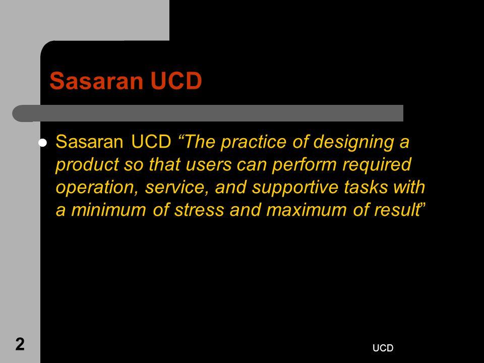 Sasaran UCD