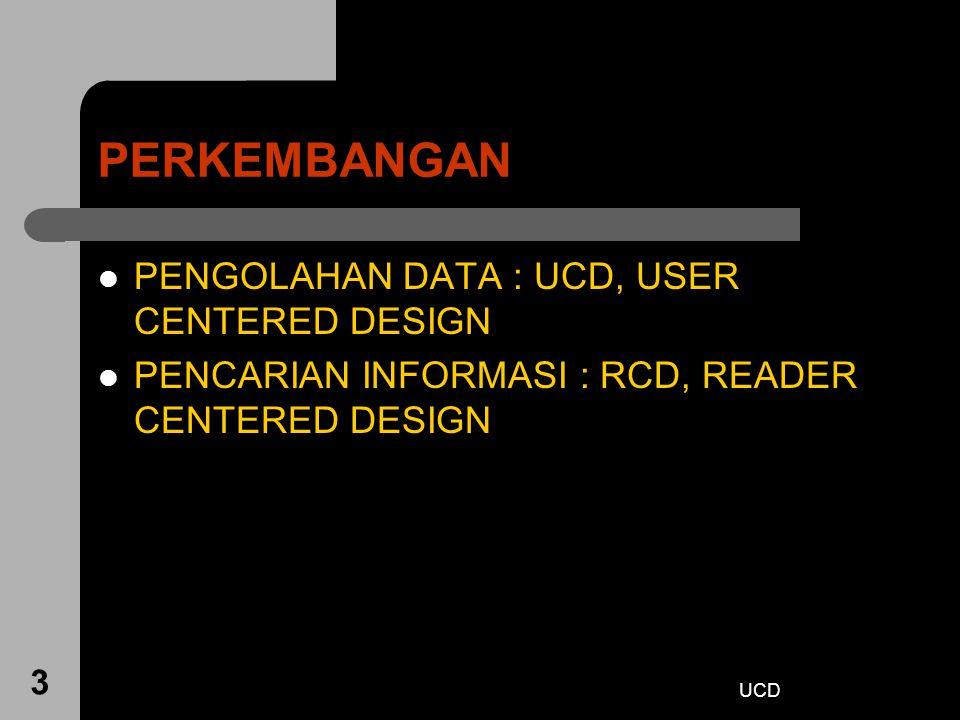PERKEMBANGAN PENGOLAHAN DATA : UCD, USER CENTERED DESIGN