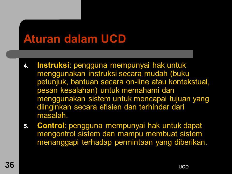 Aturan dalam UCD