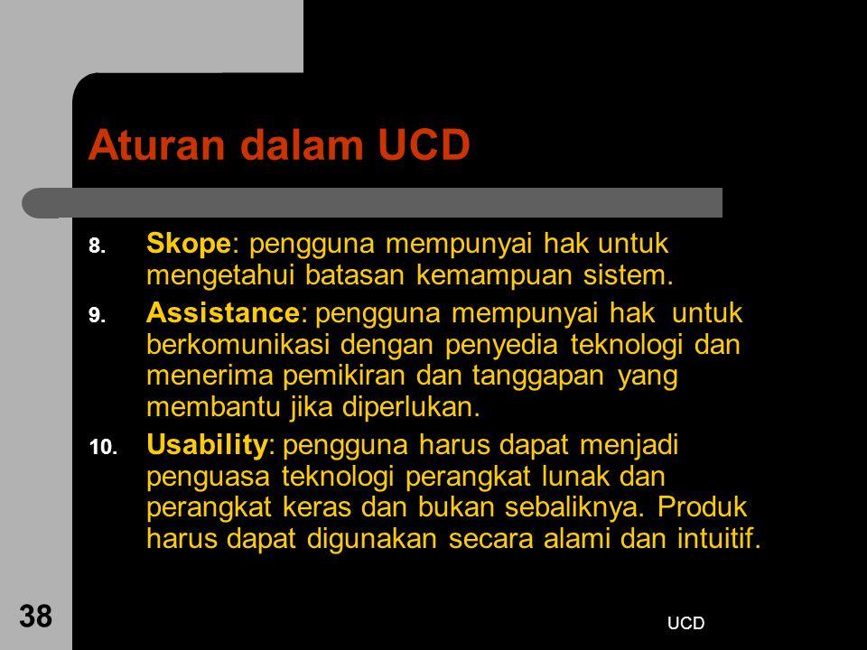 Aturan dalam UCD Skope: pengguna mempunyai hak untuk mengetahui batasan kemampuan sistem.