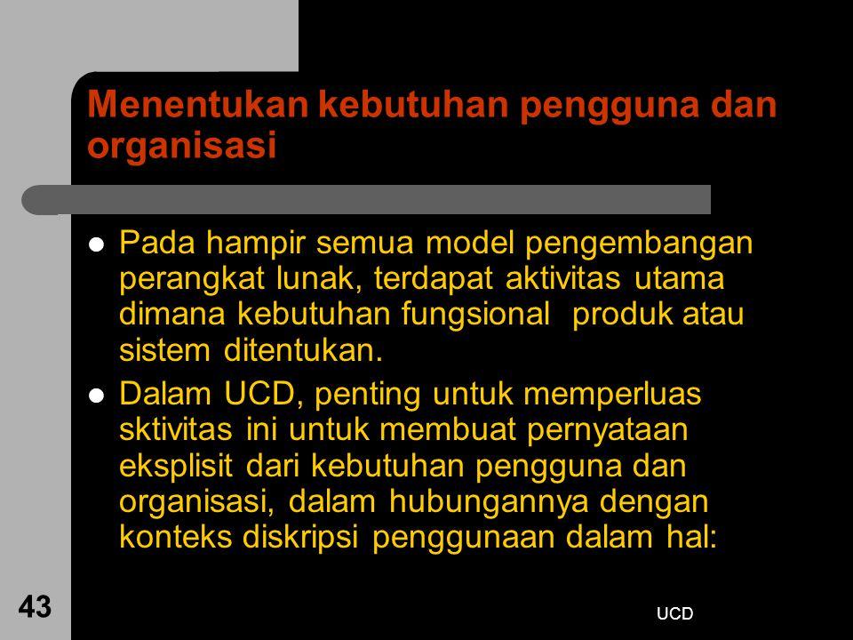 Menentukan kebutuhan pengguna dan organisasi