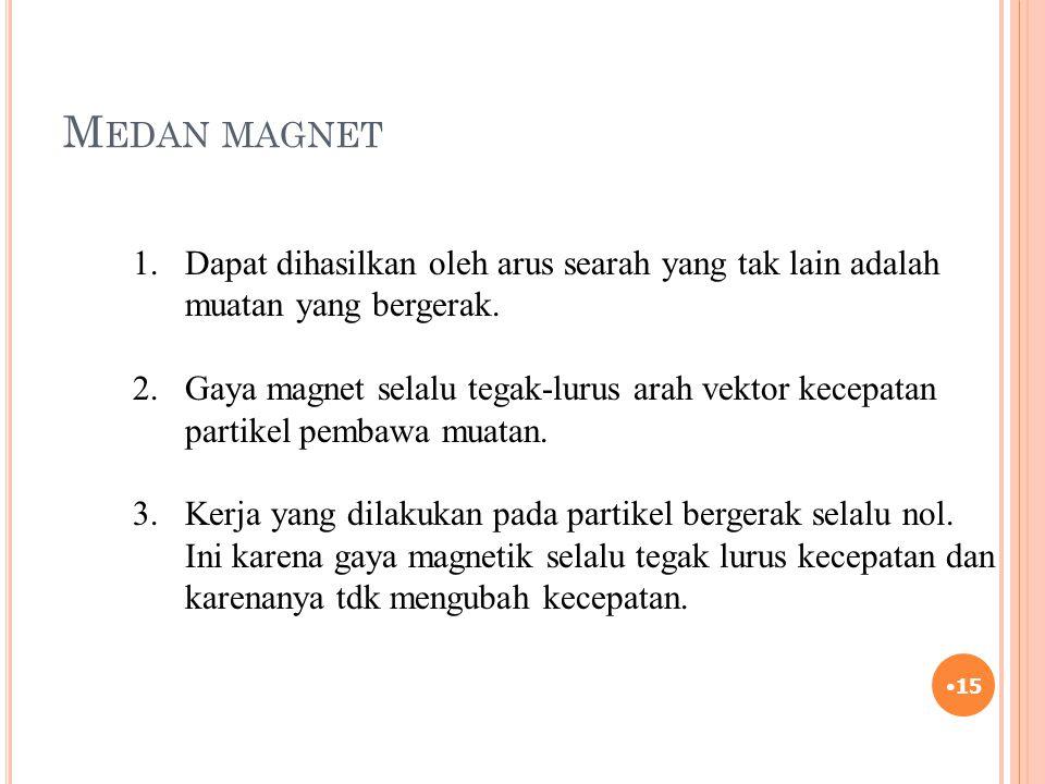 Medan magnet Dapat dihasilkan oleh arus searah yang tak lain adalah