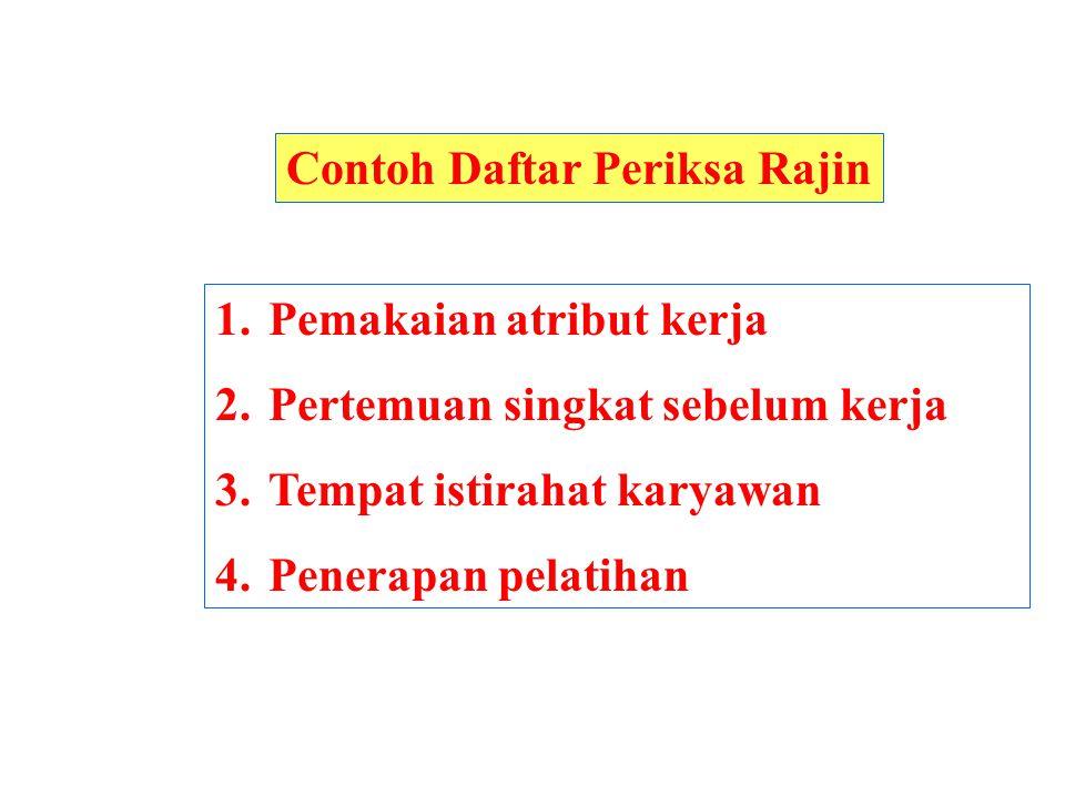 Contoh Daftar Periksa Rajin