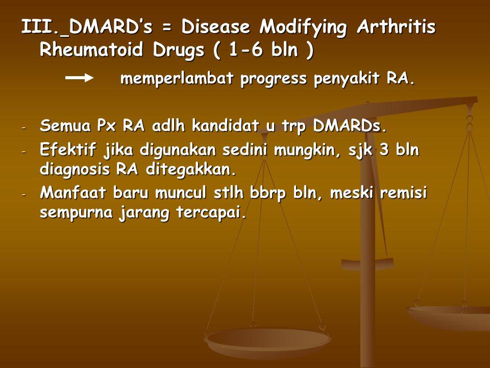 memperlambat progress penyakit RA.