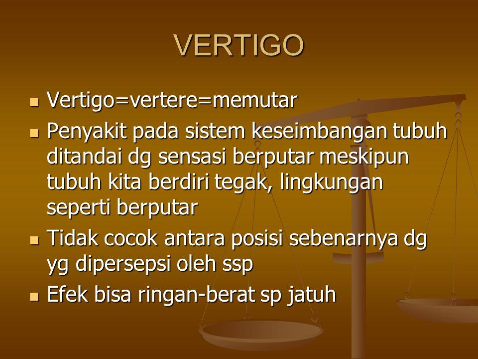 VERTIGO Vertigo=vertere=memutar
