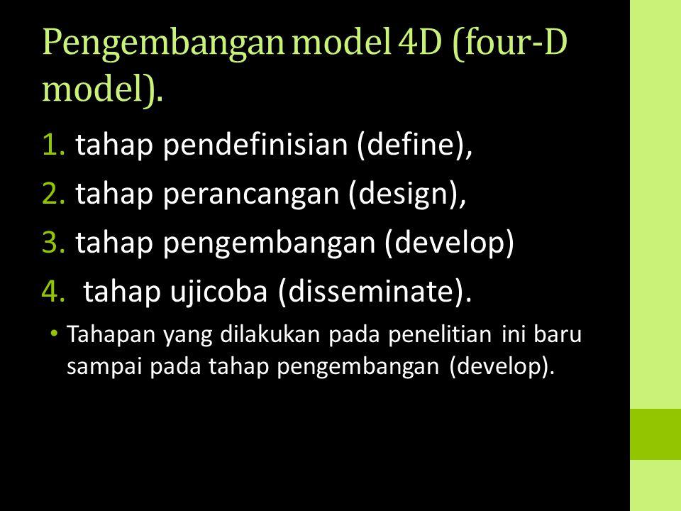 Pengembangan model 4D (four-D model).