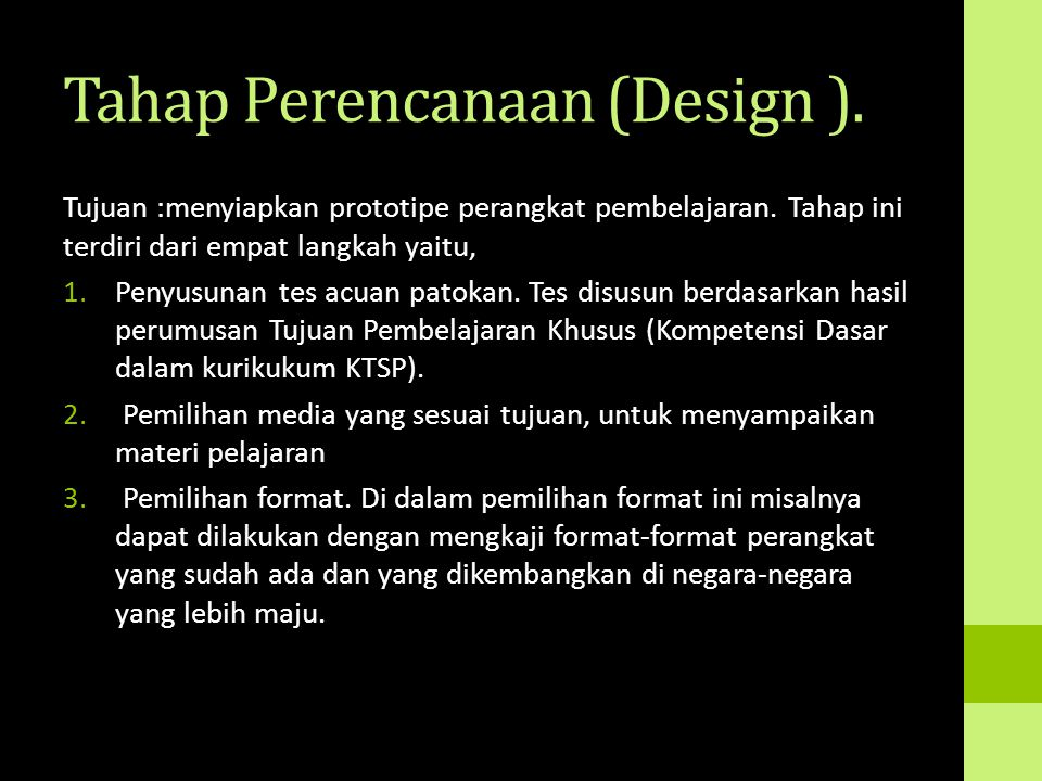Tahap Perencanaan (Design ).