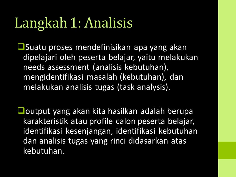 Langkah 1: Analisis