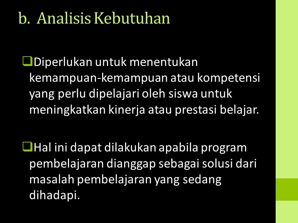 b. Analisis Kebutuhan