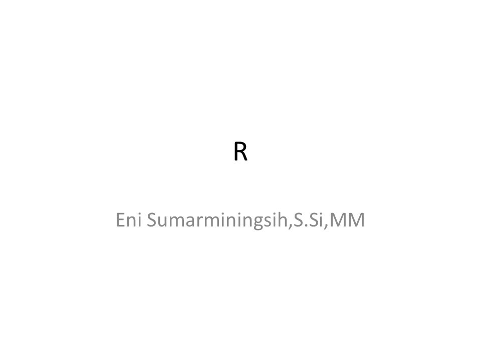 Eni Sumarminingsih,S.Si,MM