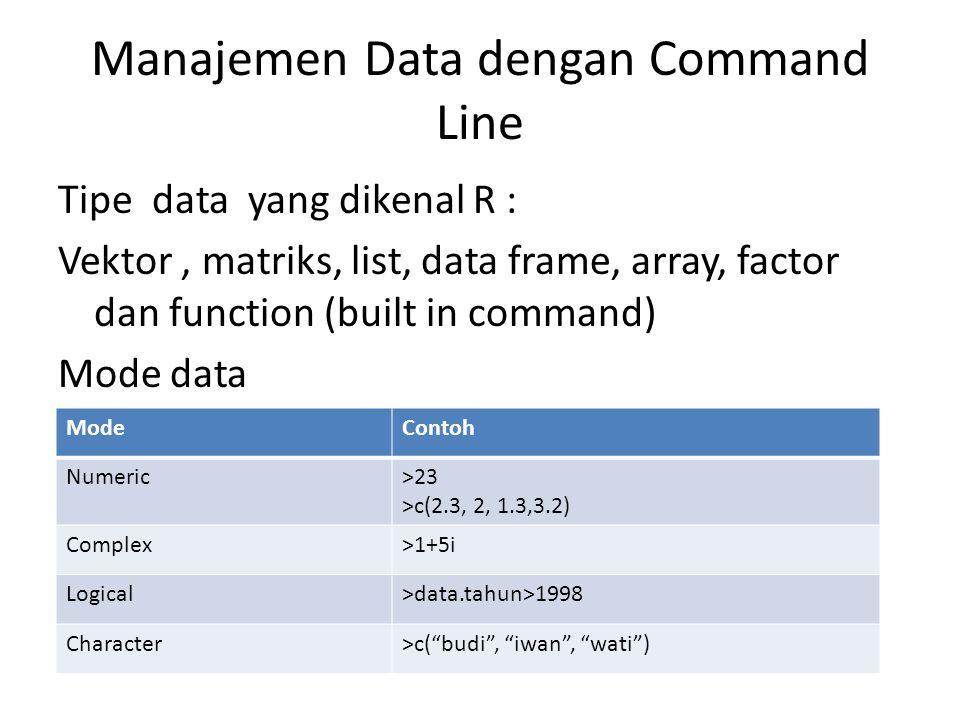 Manajemen Data dengan Command Line