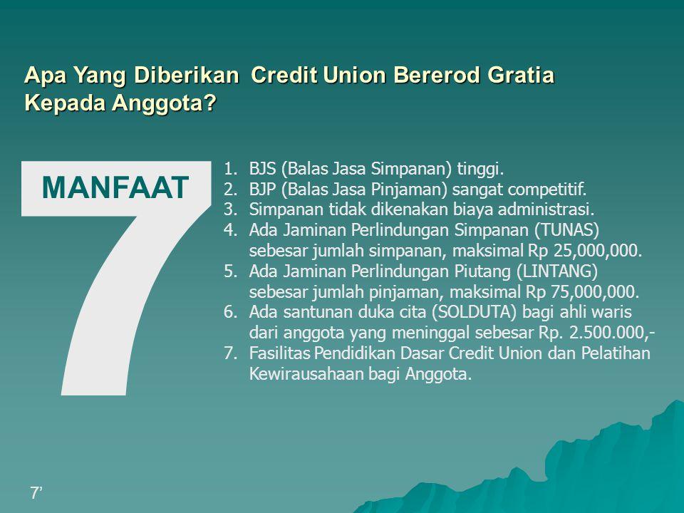 7 MANFAAT Apa Yang Diberikan Credit Union Bererod Gratia