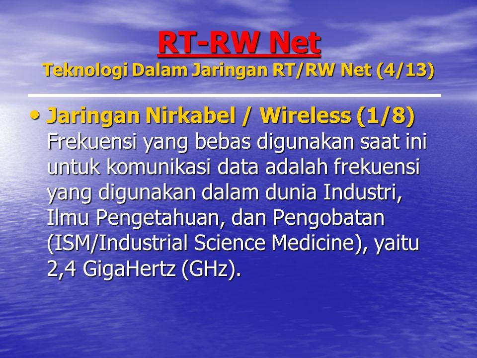 RT-RW Net Teknologi Dalam Jaringan RT/RW Net (4/13)