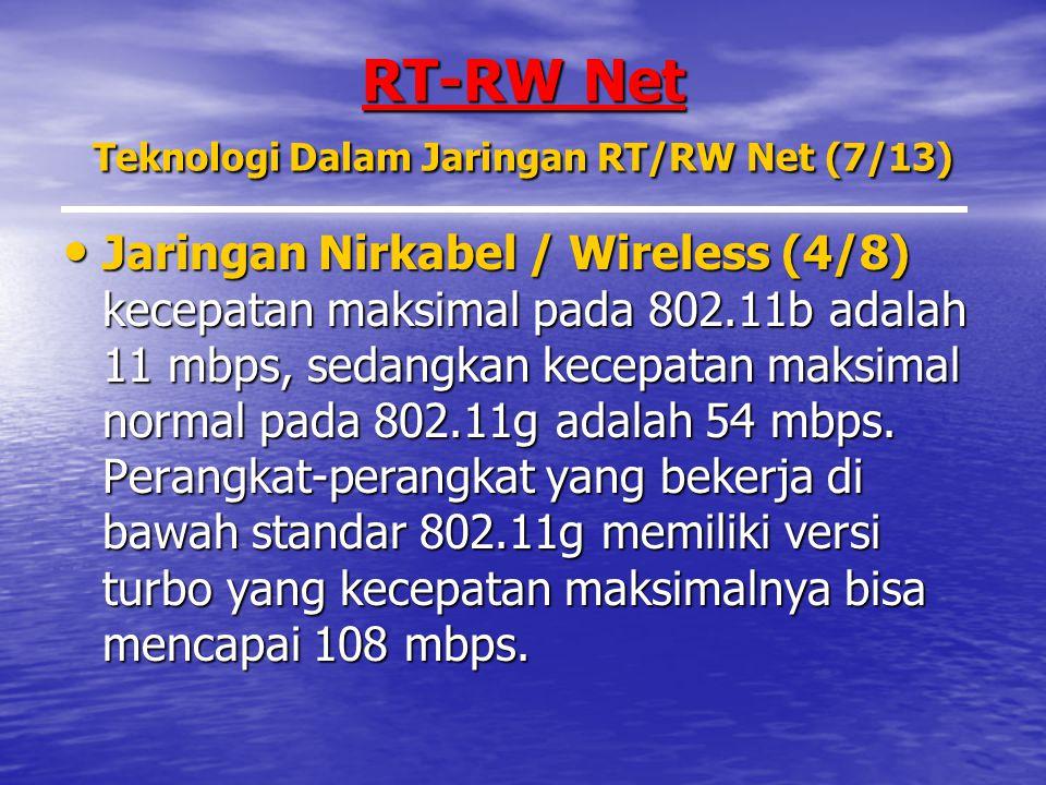 RT-RW Net Teknologi Dalam Jaringan RT/RW Net (7/13)