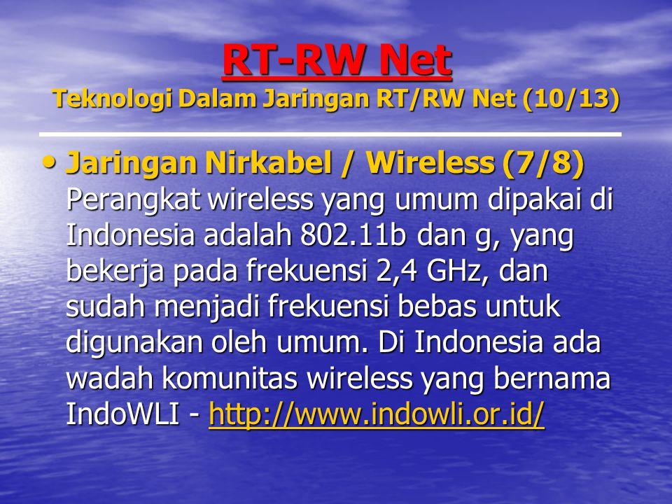 RT-RW Net Teknologi Dalam Jaringan RT/RW Net (10/13)