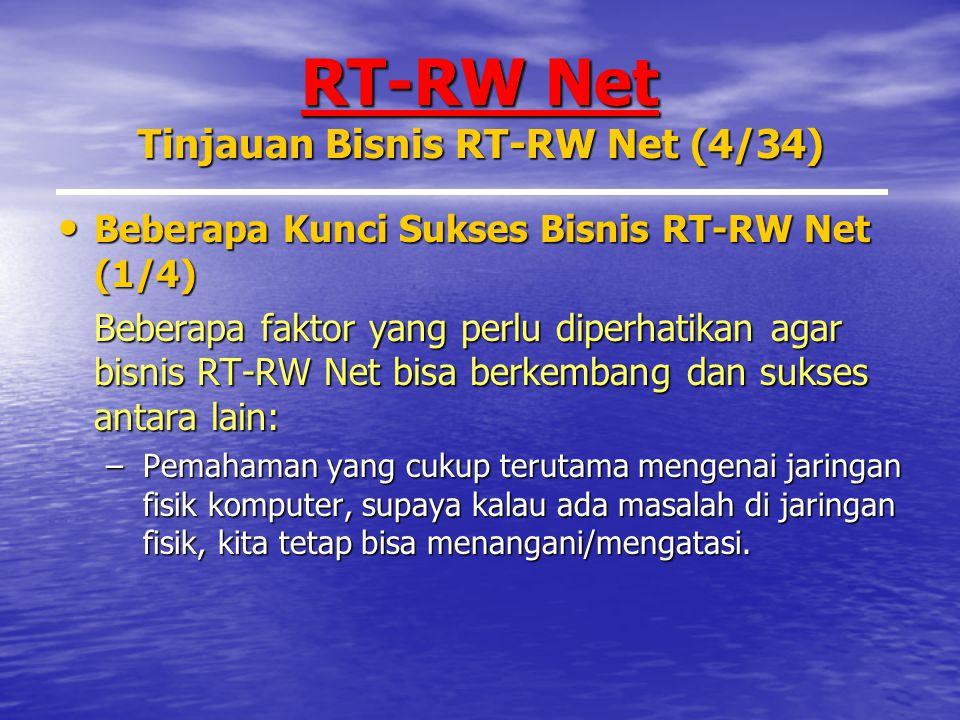 RT-RW Net Tinjauan Bisnis RT-RW Net (4/34)
