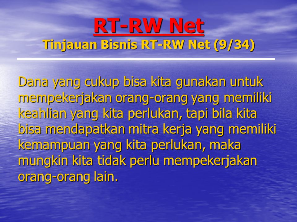 RT-RW Net Tinjauan Bisnis RT-RW Net (9/34)