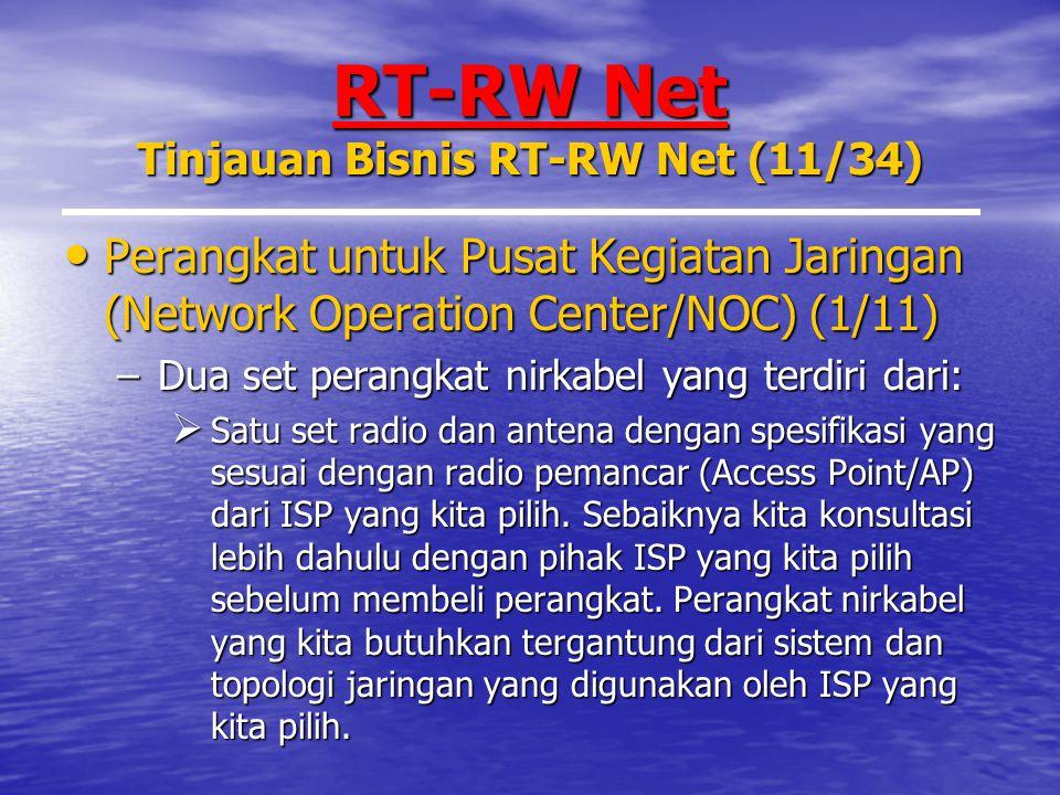 RT-RW Net Tinjauan Bisnis RT-RW Net (11/34)