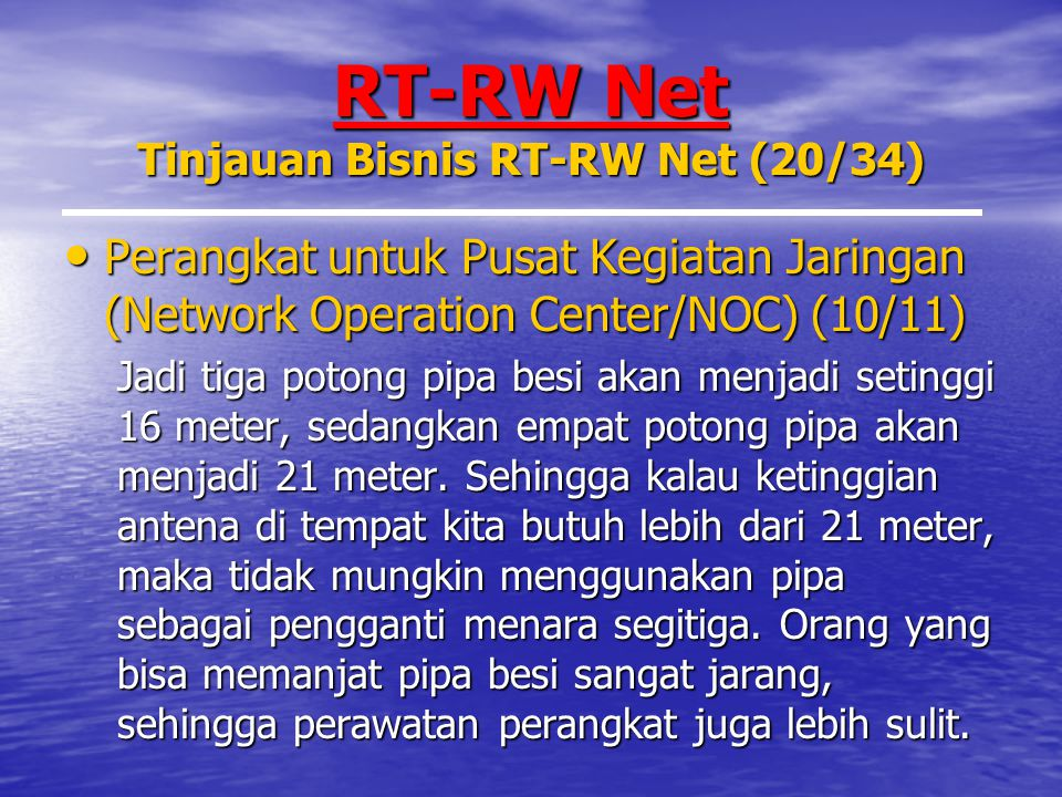 RT-RW Net Tinjauan Bisnis RT-RW Net (20/34)