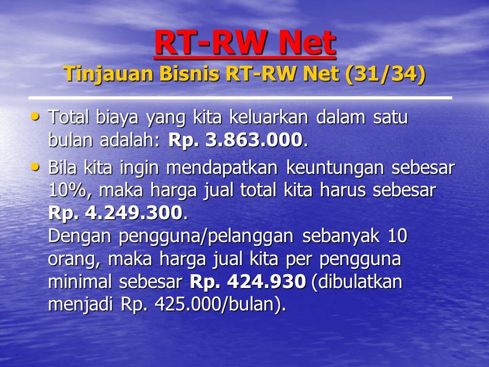 RT-RW Net Tinjauan Bisnis RT-RW Net (31/34)