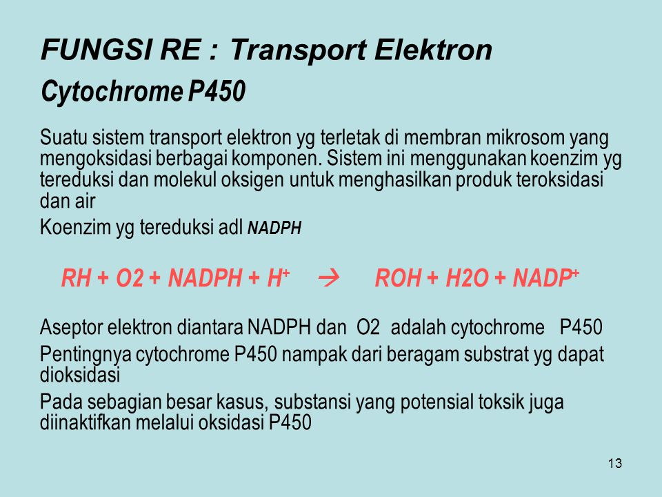 FUNGSI RE : Transport Elektron