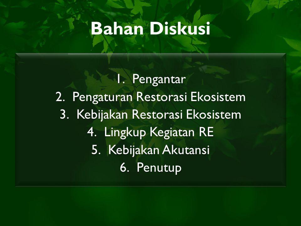 Bahan Diskusi Pengantar Pengaturan Restorasi Ekosistem