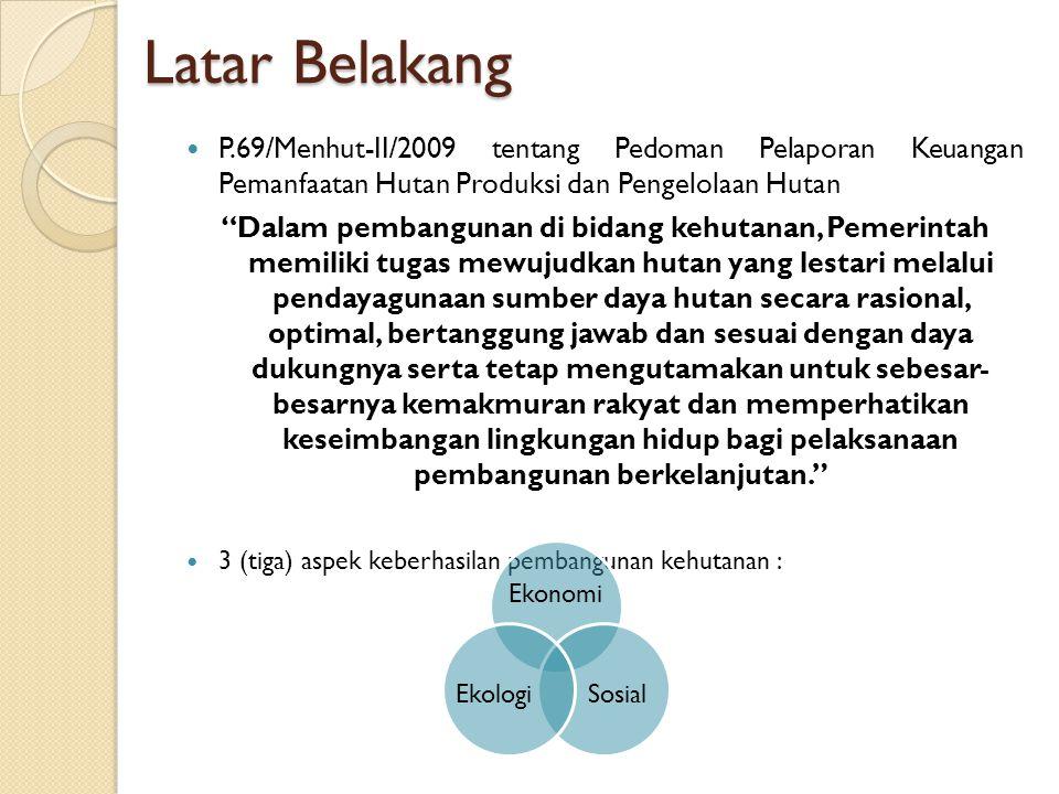 Latar Belakang P.69/Menhut-II/2009 tentang Pedoman Pelaporan Keuangan Pemanfaatan Hutan Produksi dan Pengelolaan Hutan.