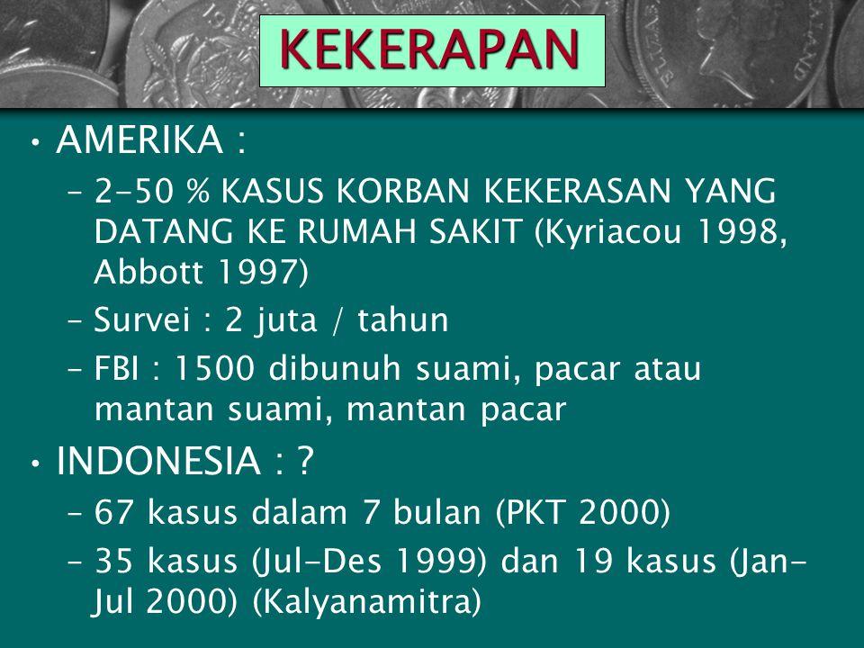 KEKERAPAN AMERIKA : INDONESIA :