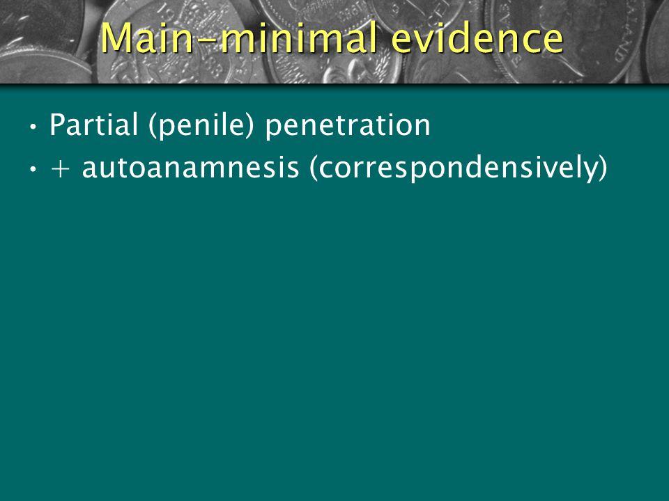 Main-minimal evidence