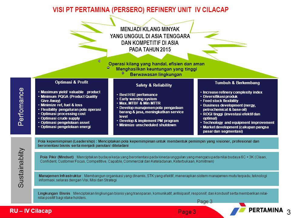 VISI PT PERTAMINA (PERSERO) REFINERY UNIT IV CILACAP