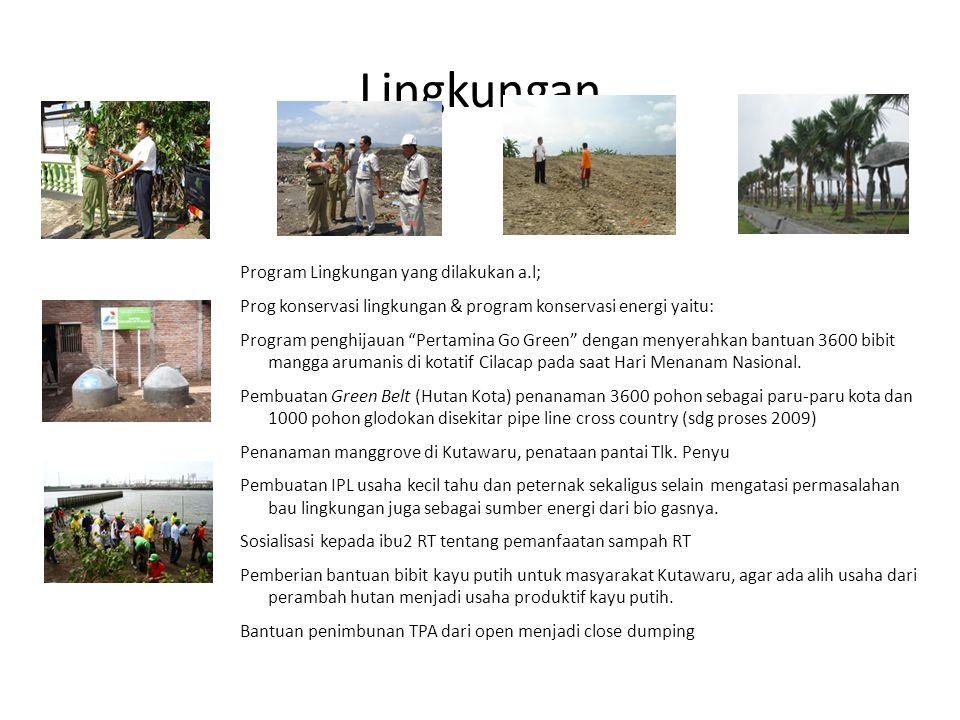 Lingkungan Program Lingkungan yang dilakukan a.l;