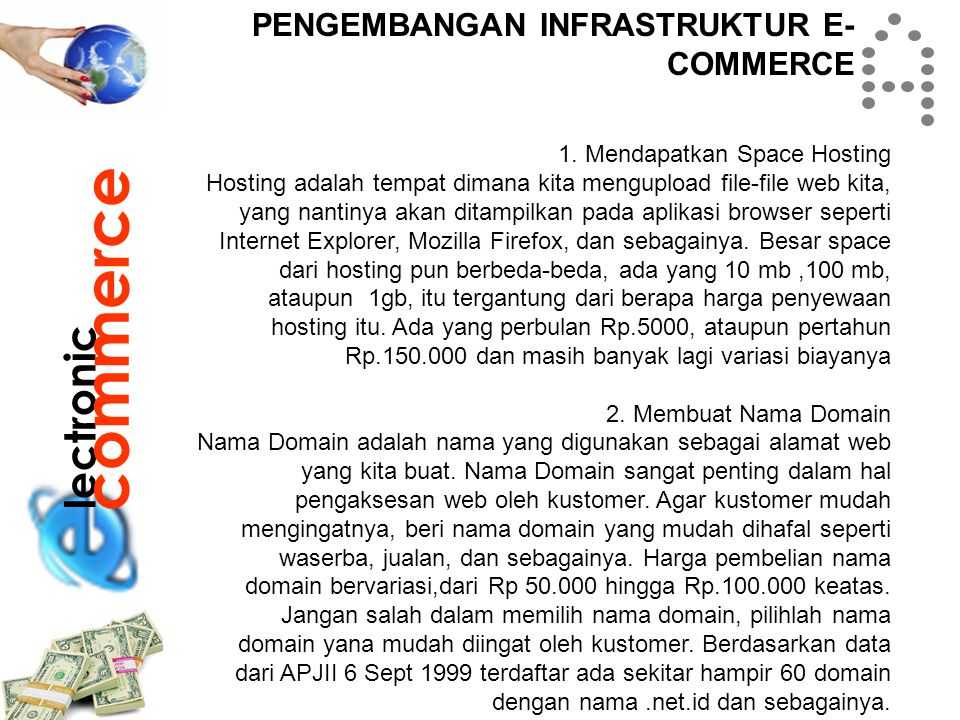 commerce lectronic PENGEMBANGAN INFRASTRUKTUR E-COMMERCE