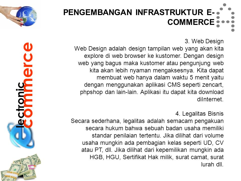 commerce lectronic PENGEMBANGAN INFRASTRUKTUR E-COMMERCE 3. Web Design