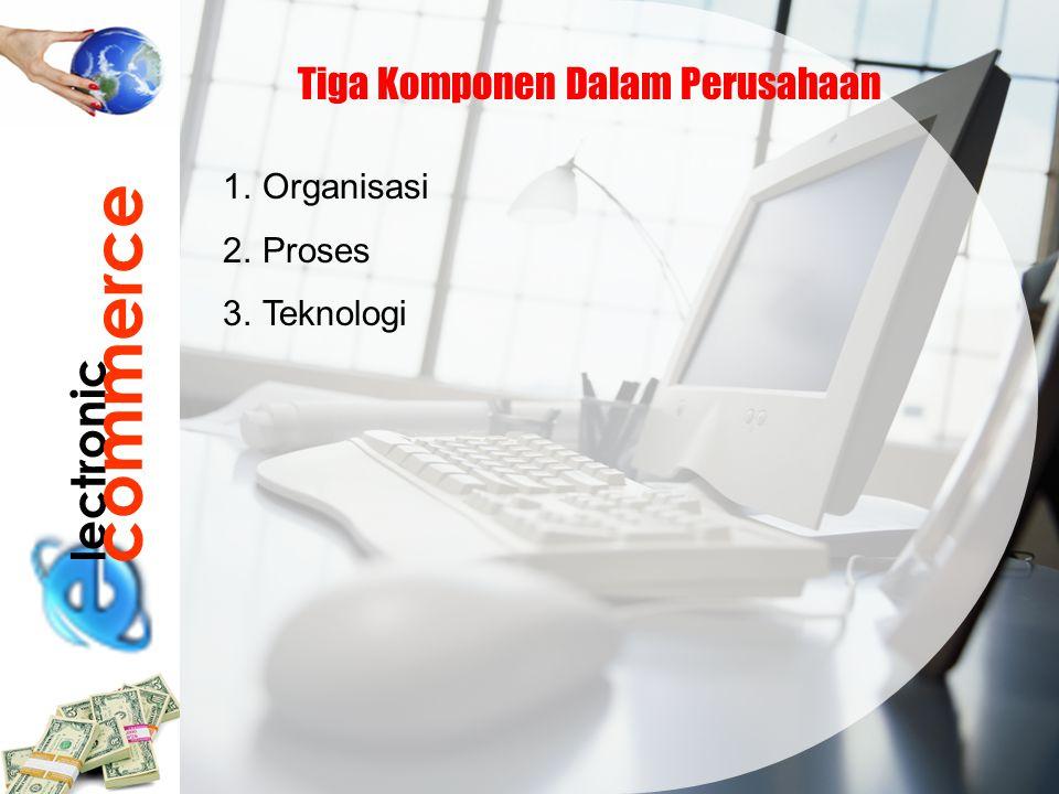 commerce lectronic Tiga Komponen Dalam Perusahaan Organisasi Proses