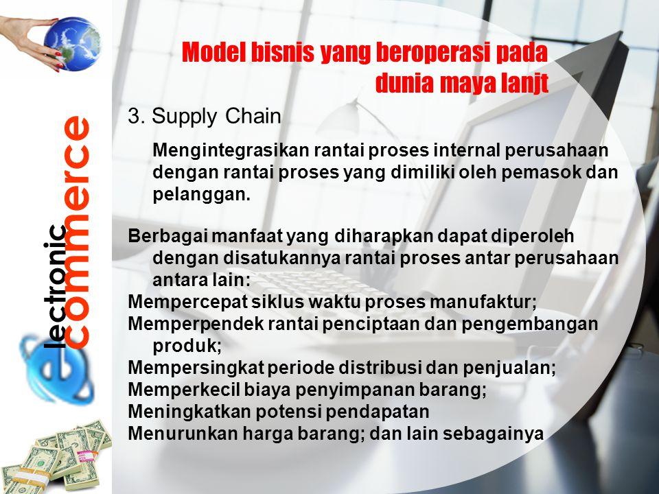 commerce lectronic Model bisnis yang beroperasi pada dunia maya lanjt