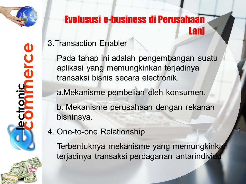 commerce lectronic Evolususi e-business di Perusahaan Lanj